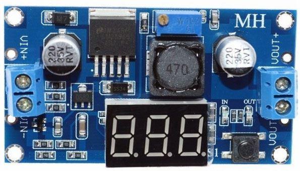 Napájecí modul, step-down měnič 2A s LM2596+LED