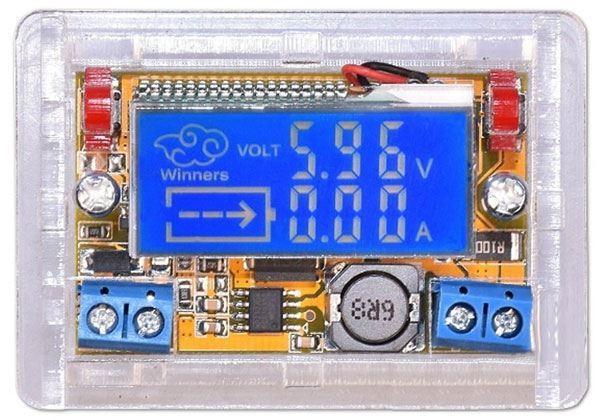 Napájecí modul, step-down měnič 5-23V/0-18V 2A, LCD displej