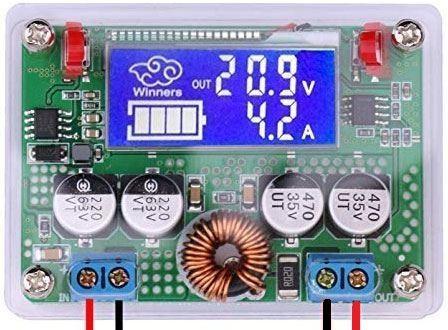 Napájecí modul, regulovatelný step-down měnič 8-60V/3-32V/5A
