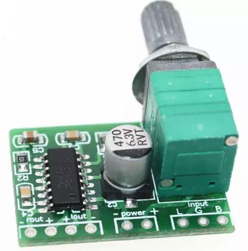 Zesilovač ve třídě D 2x3W, modul PAM8403 s potenciometrem