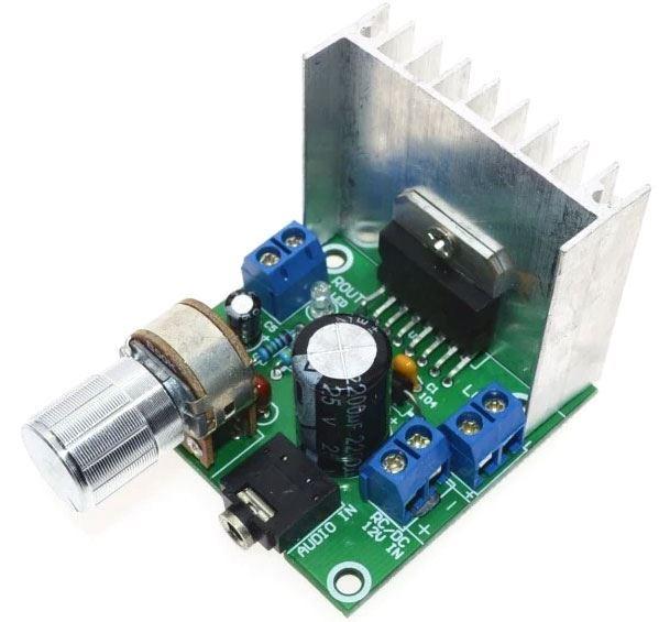 Zesilovač 2x15W, modul s TDA7297
