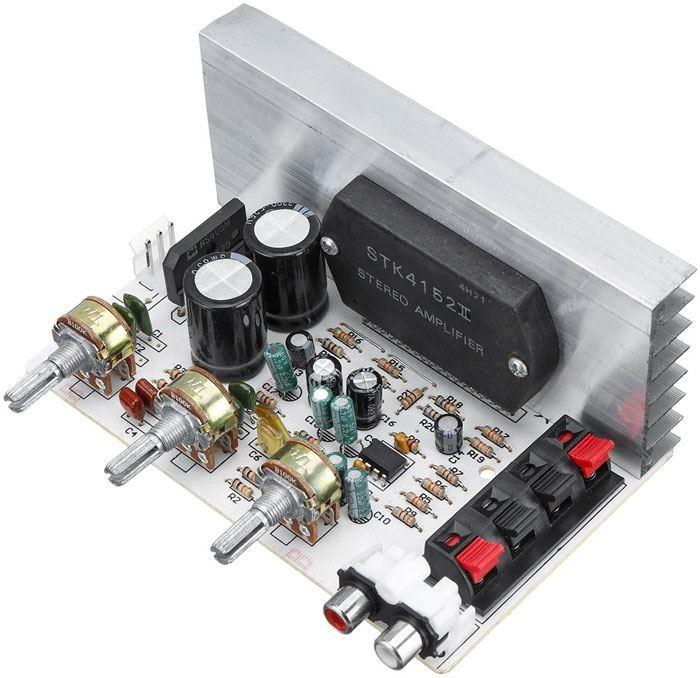 Zesilovač 2x30W s korekcemi, modul DX-0408 s STK4152