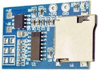 Přehrávač MP3 s nf zesilovačem 2W, základní modul