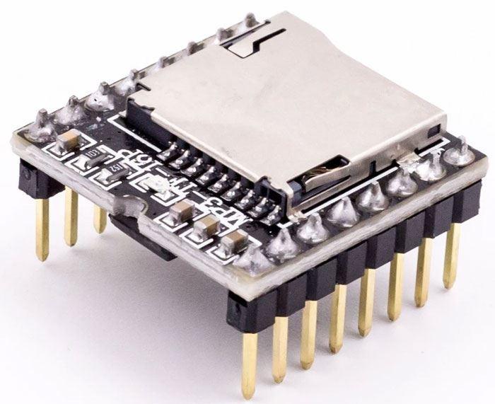 Přehrávač MP3 mini MP3-TF-16P pro Arduino