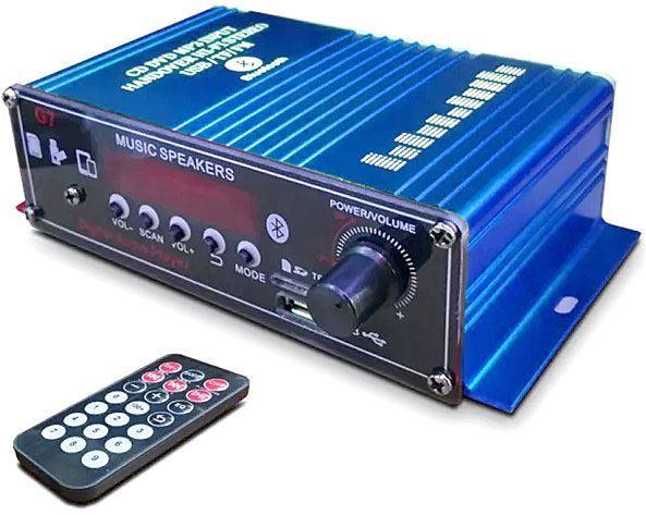 Zesilovač 2.0 2x18W s AUX IN, Bluetooth, USB, SD kartou a rádiem
