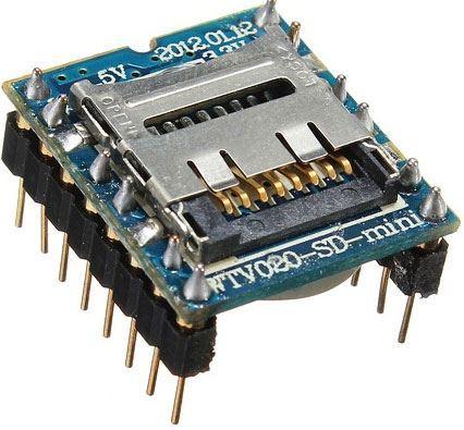 Přehrávač MP3 mini WTV020-SD-16P pro Arduino