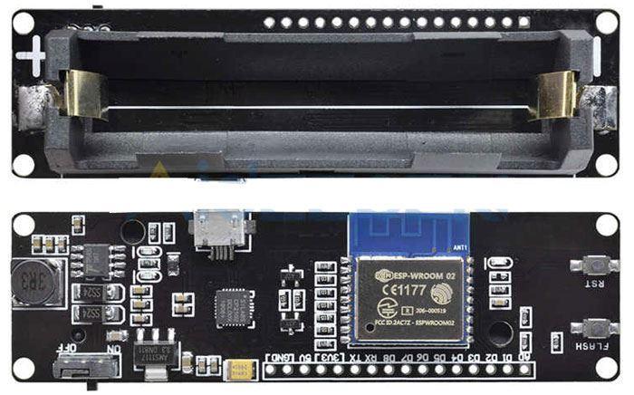 Modul WiFi Wemos ESP-WROOM-02 s ESP8266 na baterii