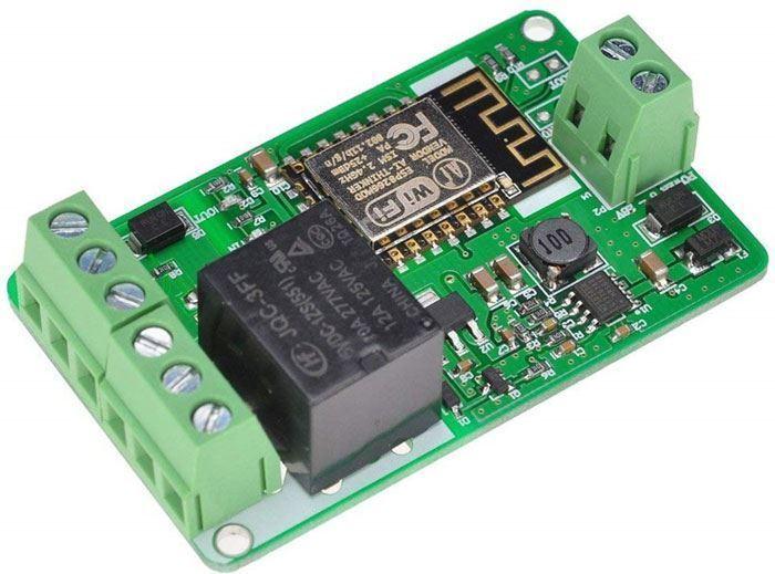 Modul relé wifi s ESP8266, napájení 7-30V
