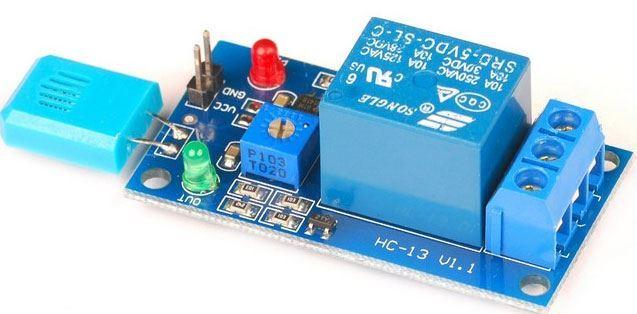 Čidlo vlhkosti vzduchu se senzorem HR202-hygrostat s releovým výstupem