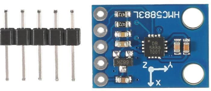 Elektronický kompas a magnetometr GY-273 s QMC5883L