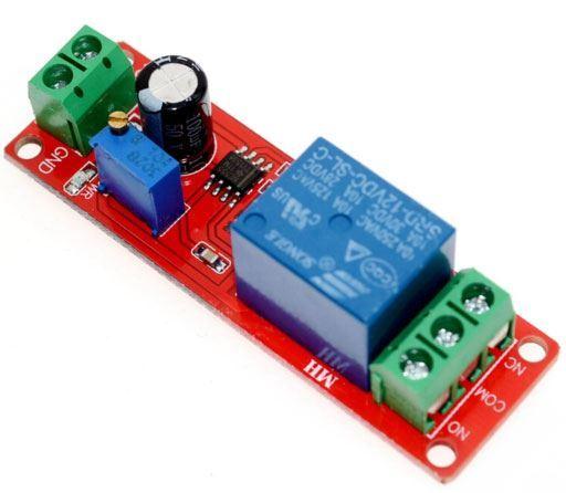 Modul časového zpoždění s relé 1-10s, modul s NE555, napájení 5V