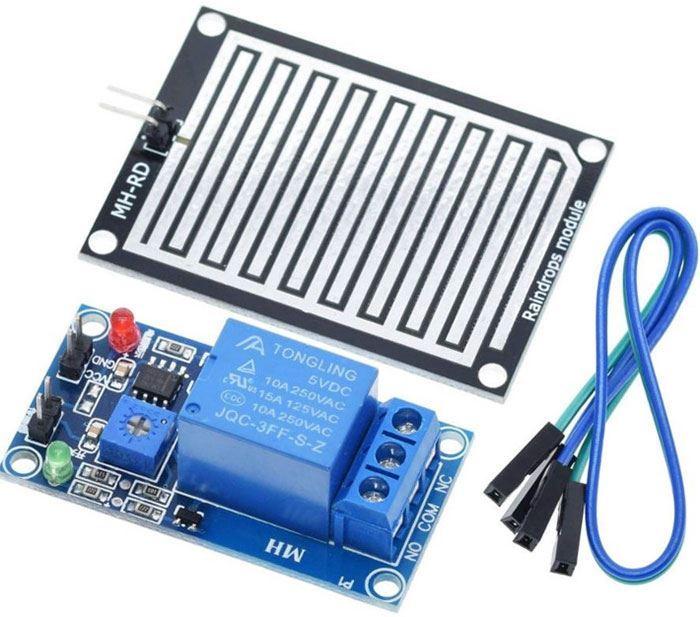 Senzor dešťě včetně sondy, modul s relé, napájení 5V