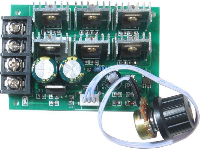 Regulátor otáček PWM stejnosměrných motorů 9-55V 40A