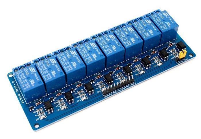 Modul relé 8x, napájení 5V, s optočlenem