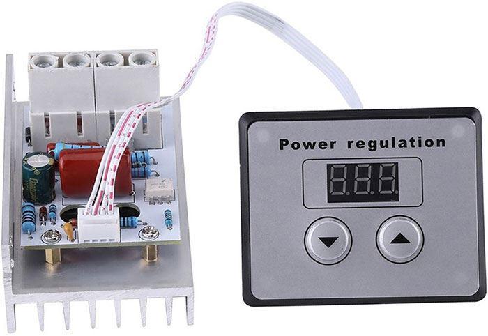 Stmívač a regulátor otáček pro komutátorové motory 10000W s displejem