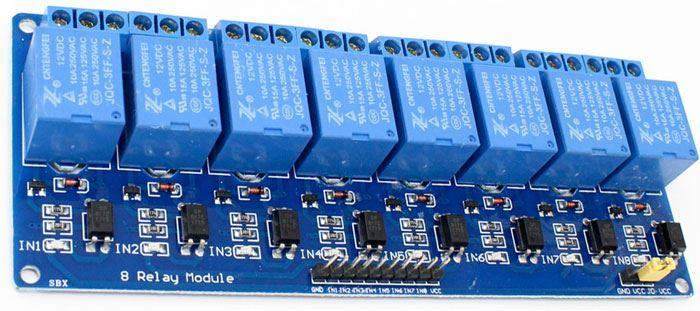 Modul relé 8x, napájení 12V, s optočlenem