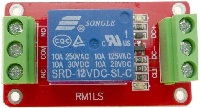 Modul relé 1x, napájení 12V, bez optočlenu, RM1LS