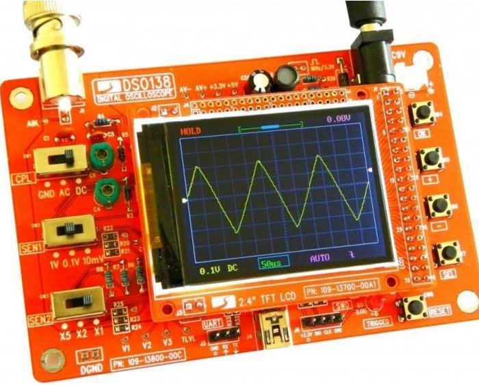Osciloskop 200kHz DSO138, sestavený modul