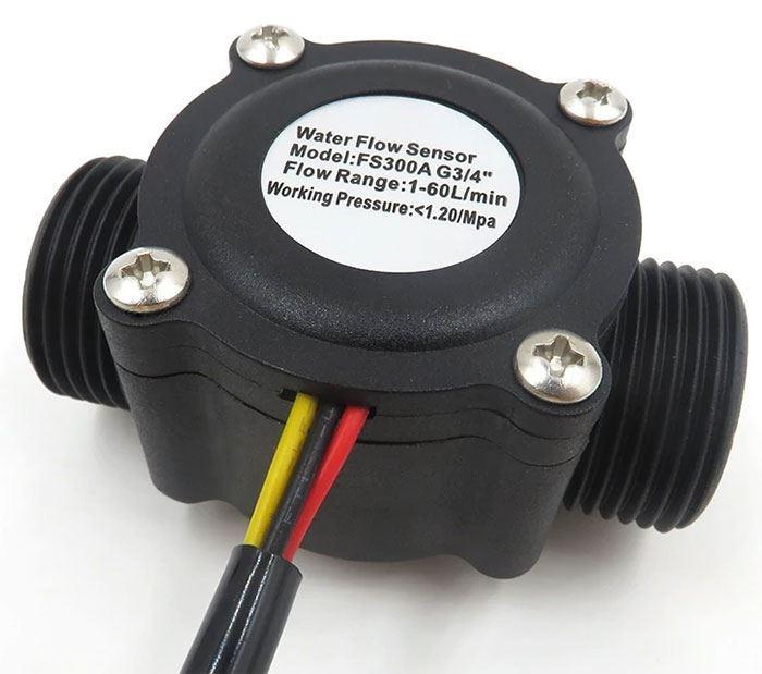 """Průtokoměr FS300A 3/4"""" 1-60l/min pro Arduino"""