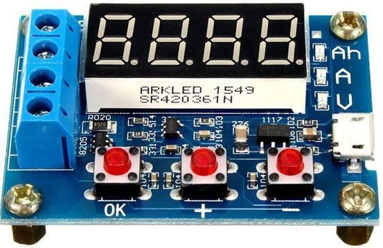 Tester článků a baterií HW-586 - měřič kapacity do 9999Ah