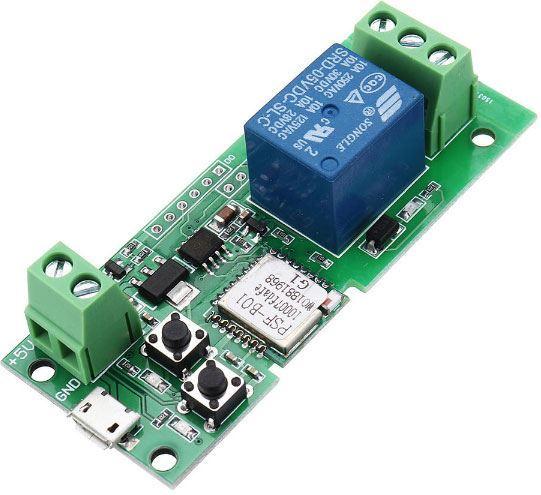 Modul WiFi Sonoff PSF-B s relé pro dálkové otevírání vrat /eWelink/