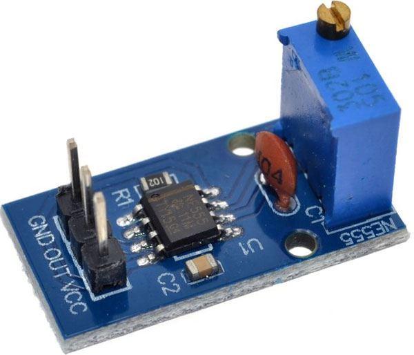 Generátor obdélníkového signálu 1Hz-200kHz s NE555