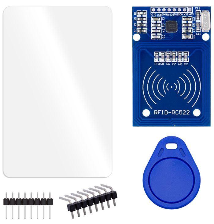 Modul RFID-RC522 13,56MHz s klíčenkou a kartou