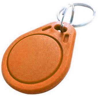 RFID přístupový čip 13,56MHz, přívěšek, oranžový