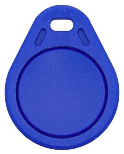 RFID přístupový čip 13,56MHz přepisovatelný, přívěšek, modrý