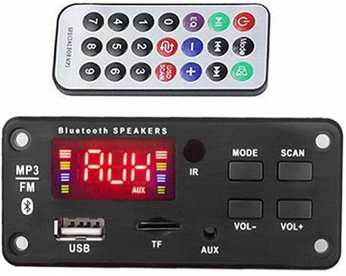 FM rádio, přehrávač MP3 s bluetooth 5.0, dálkové ovládání,napáj. 5-14V