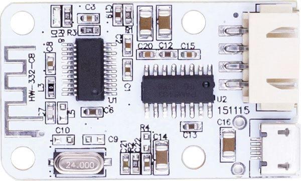 Bluetooth přijímač a zesilovač 2x3W, napájení USB 5V