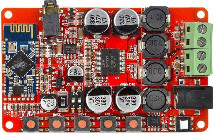 Bluetooth přijímač a zesilovač 2x25W, modul s TDA 7492P