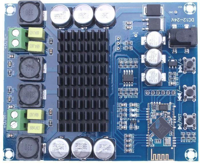 Bluetooth přijímač a zesilovač 2x120W, modul XH-M548