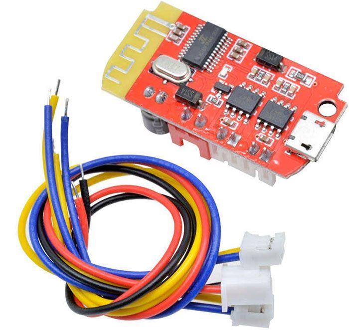 Bluetooth přijímač a zesilovač 2x5W, modul CT14, napájení USB+baterie