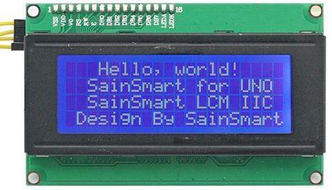 Displej LCD2004 IIC/I2C, 20x4 znaky, modré podsvícení