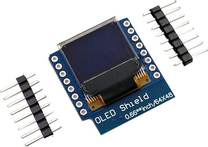 """Displej OLED 0,66"""" mini, 64x48 znaků, IIC/I2C"""