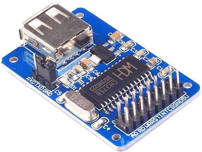 CH375B U-DISK Read Write Module USB komunikační rozhraní SPI
