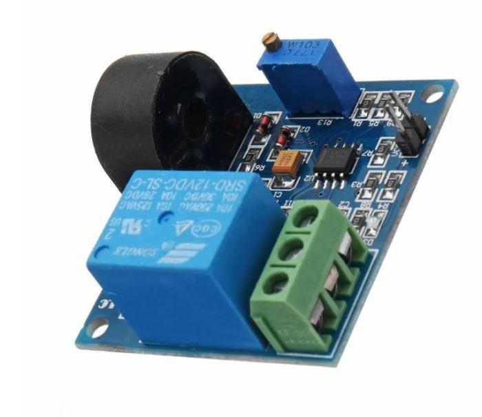 Proudový senzor AC 0,3-5A 20~400Hz s relé