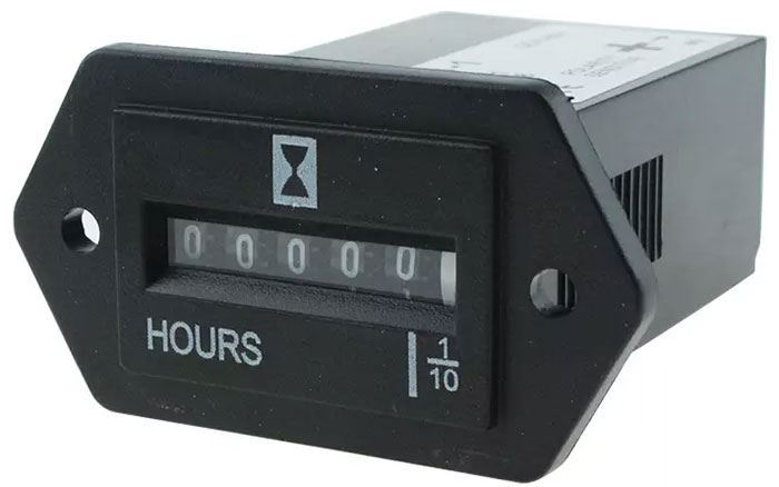 Počítadlo motohodin mechanické SYS-1, napájení 10-80VDC
