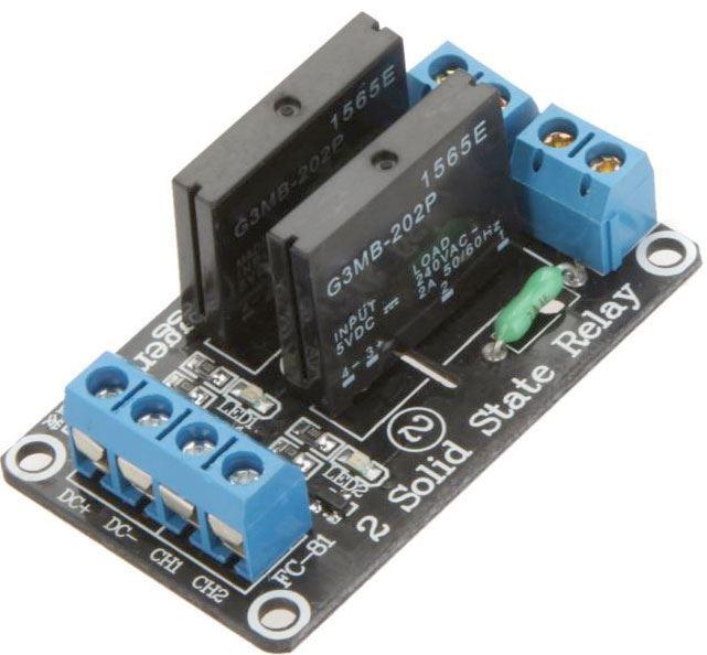 Modul relé SSR 2x, napájení 5V, s optočlenem /HY-M284/