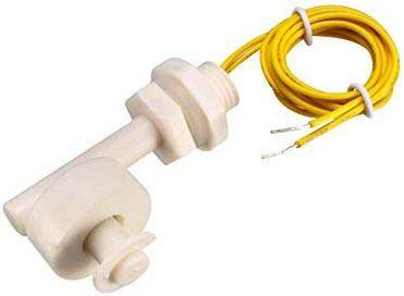 Snímač hladiny kapaliny úhlový - dvoustavový plovákový spínač