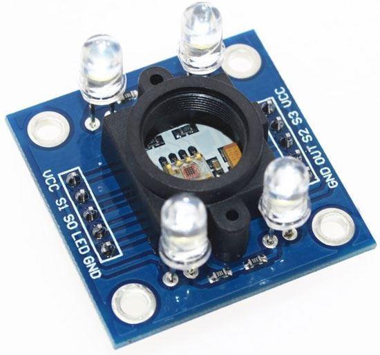 Detektor barvy - arduino modul GY-031 s TSC3200