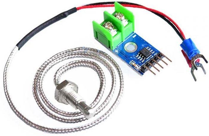 """Teplotní sonda 800°C + převodník termočlánku """"K"""" MAX6675 pro Arduino"""