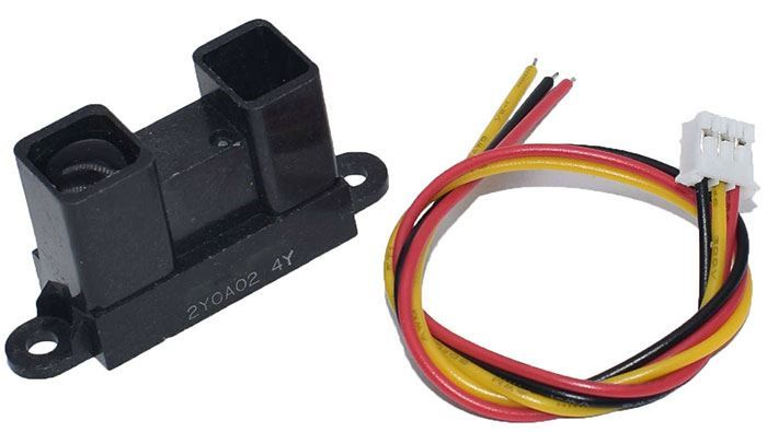 Infračervený měřič vzdálenosti 20-150cm, senzor GP2Y0A02YK0F