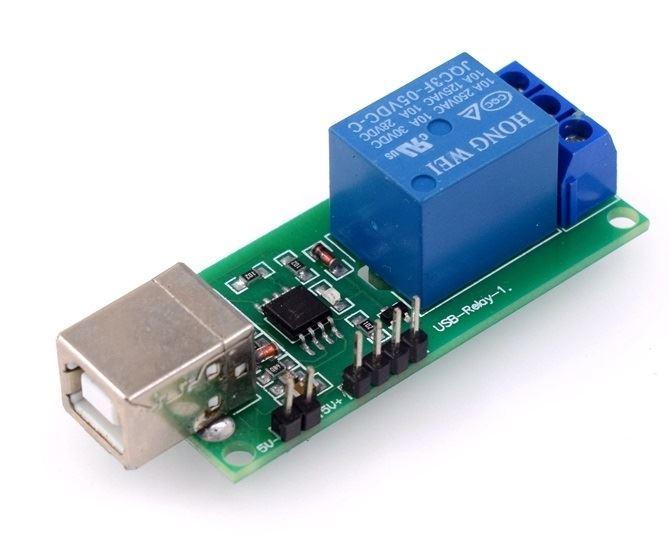 Modul relé USB, 1 kanálový