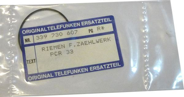 Řemínek gumový, délka 110mm