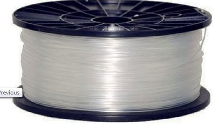 Tisková struna 1,75mm natural - čirá, materiál ABS, cívka 1kg /3D tisk