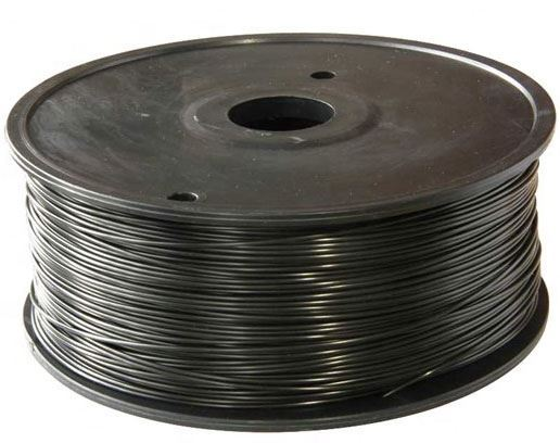 Tisková struna 1,75mm černá, materiál PLA, cívka 1kg /3D tisk/