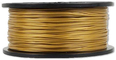 Tisková struna 1,75mm zlatá, materiál PLA, cívka 1kg /3D tisk/