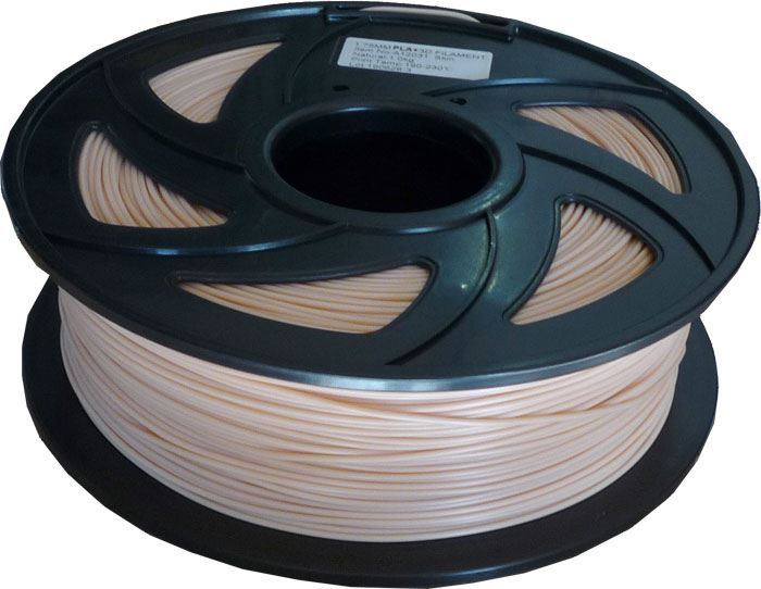 Tisková struna 1,75mm kůže, materiál PLA, cívka 1kg /3D tisk/